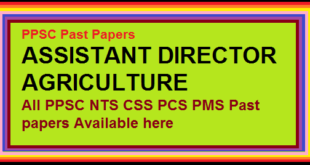 PPSC ASSISTANT DIRECTOR AGRICULTURE