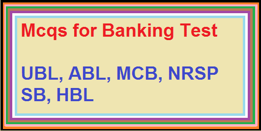 Mcqs for Banking Test