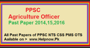 PPSC Agriculture Officer Past Paper 2014,15,2016