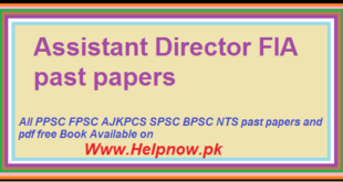 assistant director fia past papers