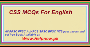 CSS MCQs For English