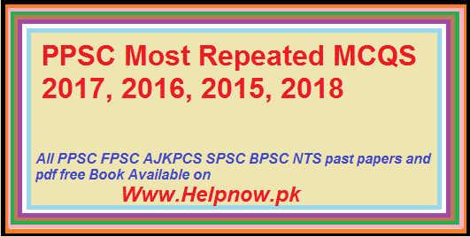 PPSC Most Repeated MCQS