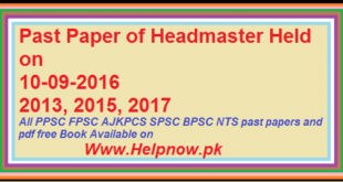 Past Paper of Headmaster