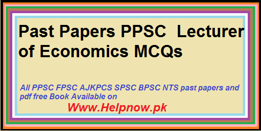 past papers of ppsc
