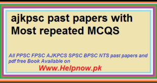 ajkpsc past papers with Most repeated MCQS