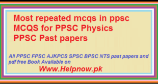 mcqs for ppsc