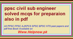 PPSC Past Papers - HelpNow pk The Leading Website Providing