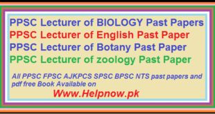 ppsc old papers ofLecturer