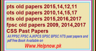 pts old papers , ots old papers nts old papers fpsc old papers