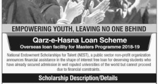 National Endowment Scholarship 2018