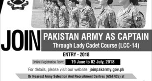 lady cadet course 2018 registration