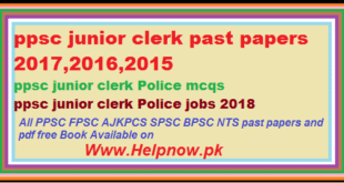 ppsc junior clerk past papers