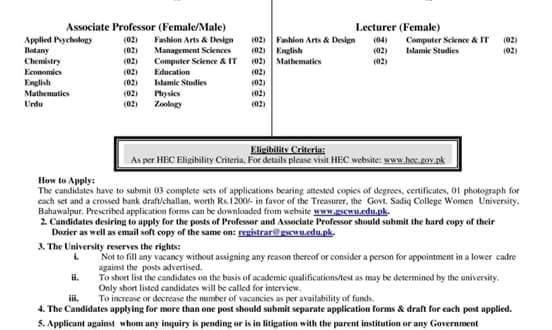100 Plus Vacancies of Government Lecturer, Assistant Professor, Professor last date for Apply is July 23, 2018