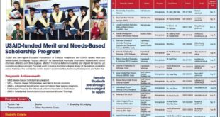 USAID Need Based Scholarship Program Pakistan by HEC Scholarship 2018