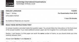 o level past paper of English